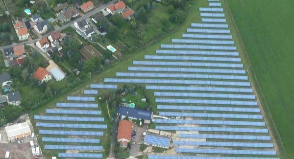 Solarpark Langenbogen von oben